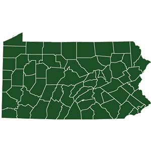 photo of PA state map
